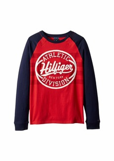 Tommy Hilfiger Long Sleeve T Shirt with Velcro® Shoulder Closure (Little Kids/Big Kids)