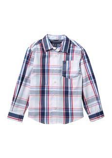 Tommy Hilfiger Long Sleeve Woven Shirt (Big Boys)