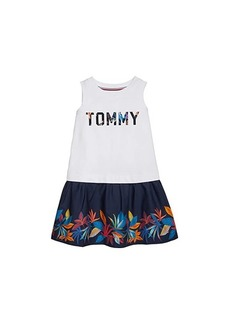 Tommy Hilfiger Lorna Sleeveless Dress with Wide Neck Opening (Toddler/Little Kids/Big Kids)