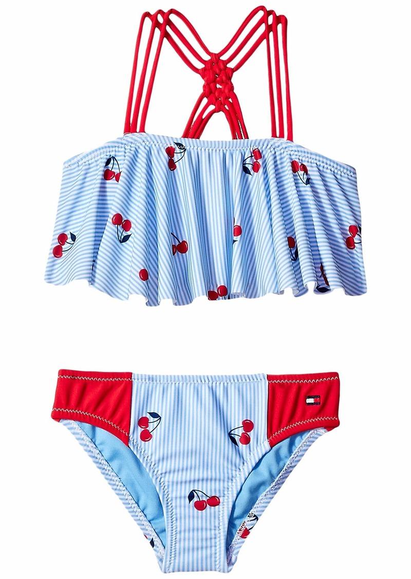 175e0cc44e2 Tommy Hilfiger Lucia Two-Piece Swimsuit (Big Kids) | Swimwear