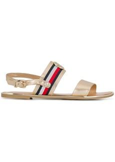 Tommy Hilfiger metallic flat sandals