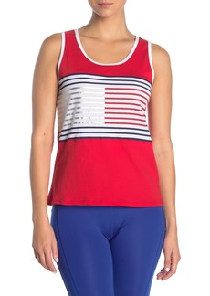 Tommy Hilfiger Metallic Stripe Logo Tank Top