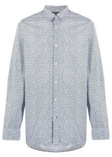Tommy Hilfiger micro-floral print fitted shirt