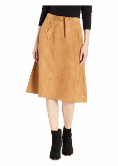 Tommy Hilfiger Midi Skirt Suede with Velcro® Magnet Buttons