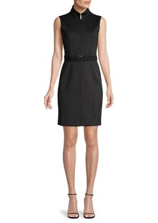 Tommy Hilfiger Mockneck Belted Dress