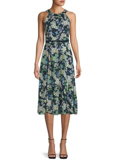 Tommy Hilfiger Moody Floral-Print Belted Midi Dress