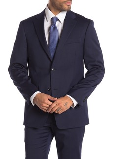 Tommy Hilfiger Navy Tonal Stripe Two Button Notch Lapel Suit Separates Jacket