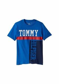 Tommy Hilfiger Odin Short Sleeve Color Block Crew Neck Tee Shirt (Big Kids)
