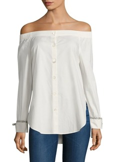 Tommy Hilfiger Off-The-Shoulder Shirt