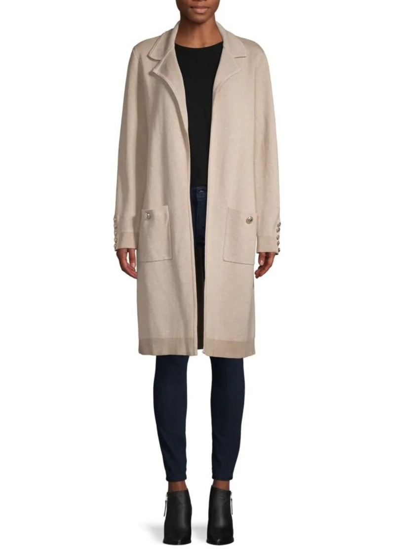 Tommy Hilfiger Open-Front Cotton-Blend Coat