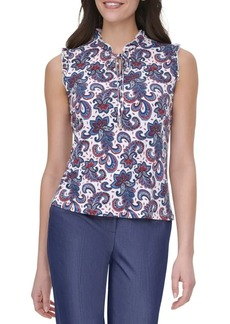 Tommy Hilfiger Paisley Floral Sleeveless Top