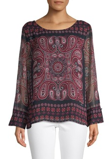 Tommy Hilfiger Paisley Long-Sleeve Top