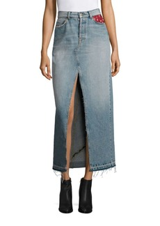 Tommy Hilfiger Patchwork Denim Maxi Skirt
