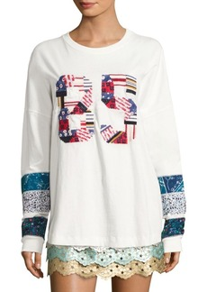 Tommy Hilfiger Patchwork Long Sleeve Tee