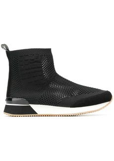 Tommy Hilfiger perforated hi-top sneakers