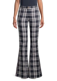 Tommy Hilfiger Plaid Bell Bottom Pants