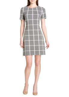 Tommy Hilfiger Plaid Knit A-Line Dress