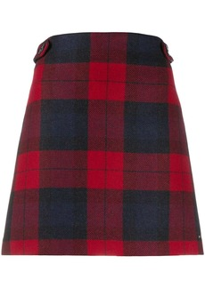 Tommy Hilfiger plaid pattern straight skirt