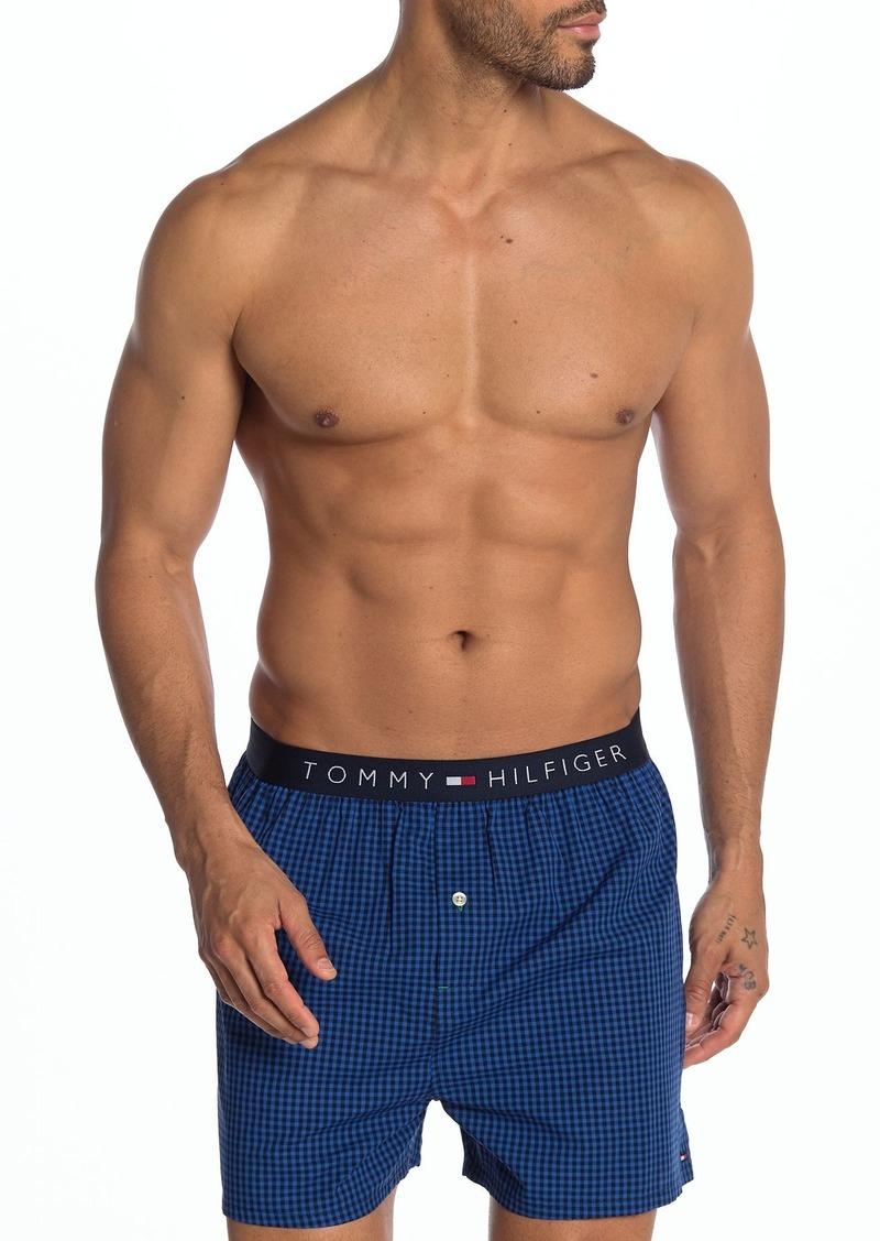 Tommy Hilfiger Plaid Woven Boxer
