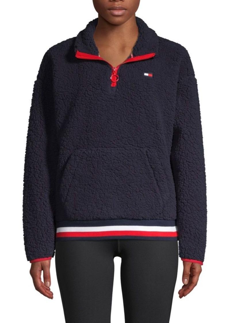 Tommy Hilfiger Plush Stand-Collar Sweatshirt