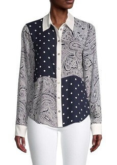 Tommy Hilfiger Polka-Dot & Paisley Long-Sleeve Shirt