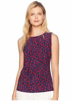 Tommy Hilfiger Printed Bead Neck Top