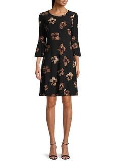 Tommy Hilfiger Printed Bell Sleeve Dress