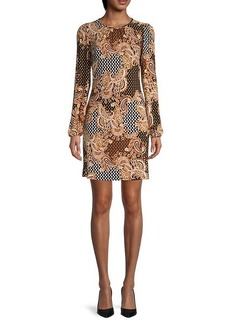 Tommy Hilfiger Printed Long Puffed-Sleeve Dress