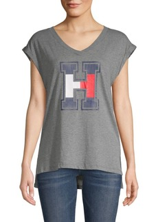 Tommy Hilfiger Printed V-Neck Top