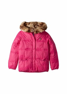 Tommy Hilfiger Puffer Jacket with Magnetic Buttons and Faux Fur Hood (Little Kids/Big Kids)