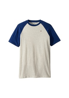 Tommy Hilfiger Raglan Short Sleeve Tee (Big Kids)