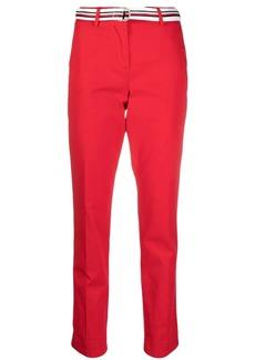 Tommy Hilfiger red mid-rise slim-leg pants