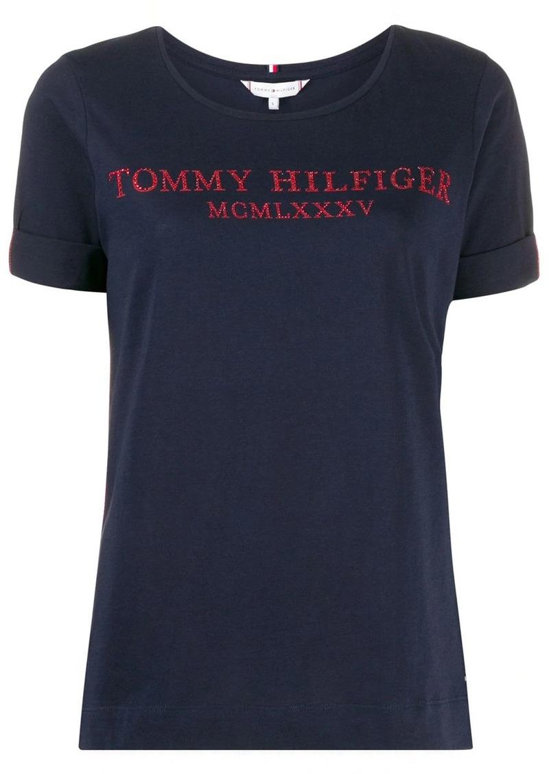 Tommy Hilfiger rhinestone logo T-shirt