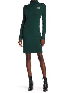 Tommy Hilfiger Ribbed Turtleneck Sweater Dress