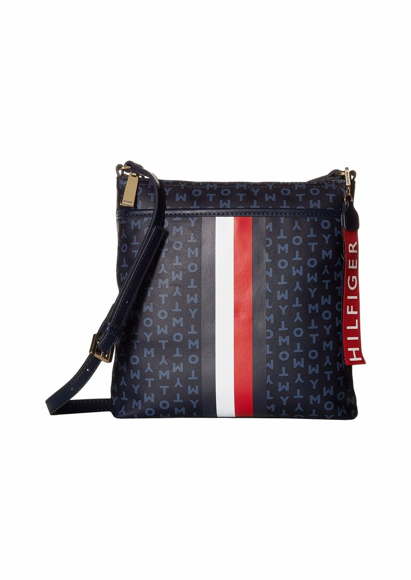 79016d2484 Tommy Hilfiger Roma TH Block Coated Canvas North South Crossbody ...