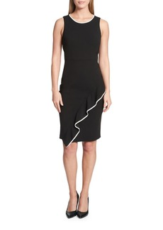 Tommy Hilfiger Ruffle Trimmed Sheath Dress