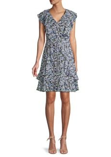 Tommy Hilfiger Ruffled Floral Dress