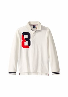 Tommy Hilfiger Rugby Shirt with Magnetic Buttons (Little Kids/Big Kids)