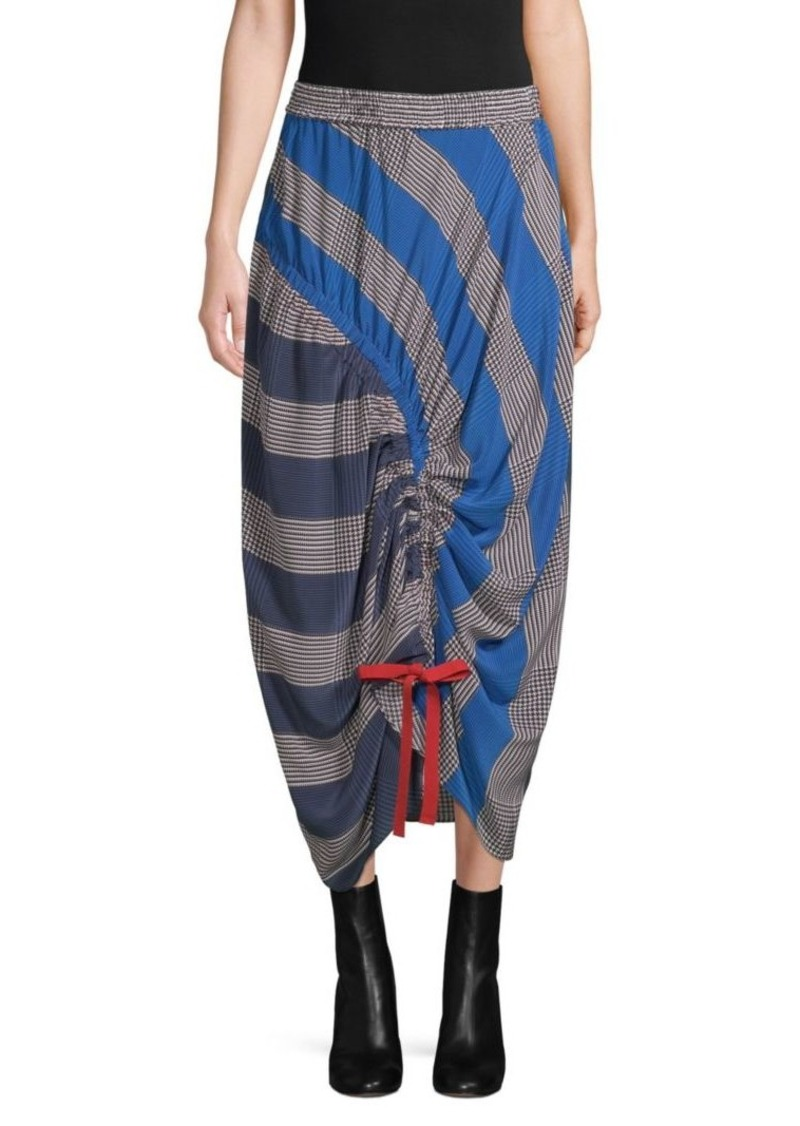 195747527d Tommy Hilfiger Rugby Stripe Ruched Midi Skirt