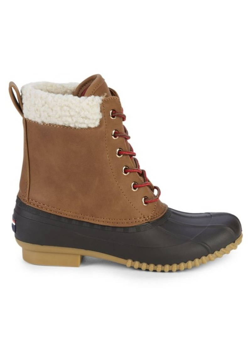 Tommy Hilfiger Russels Faux Shearling-Trim Ankle Boots