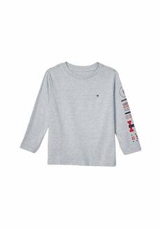 Tommy Hilfiger Sam Long Sleeve Solid Crew Neck Tee Shirt (Big Kids)