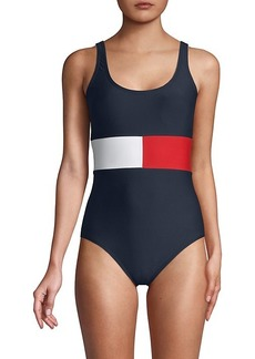 Tommy Hilfiger Scoopneck One-Piece Swimsuit