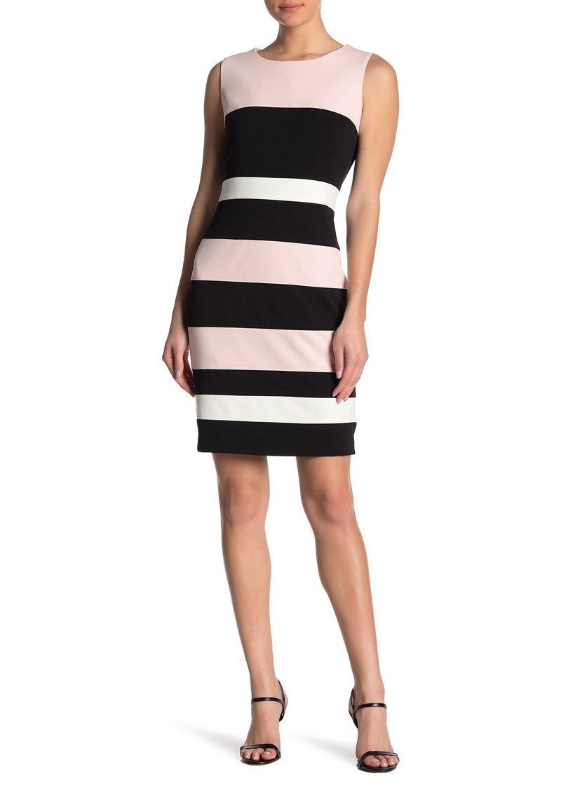 Tommy Hilfiger Scuba Crepe Colorblock Dress