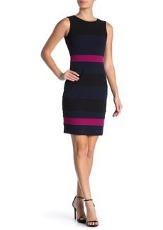 Tommy Hilfiger Scuba Crepe Colorblock Dress (Regular & Plus Size)