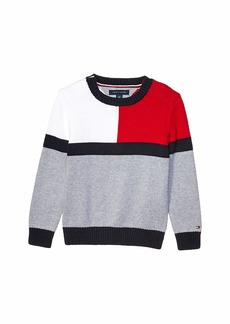 Tommy Hilfiger Seated Fit Icon Sweater (Little Kids/Big Kids)