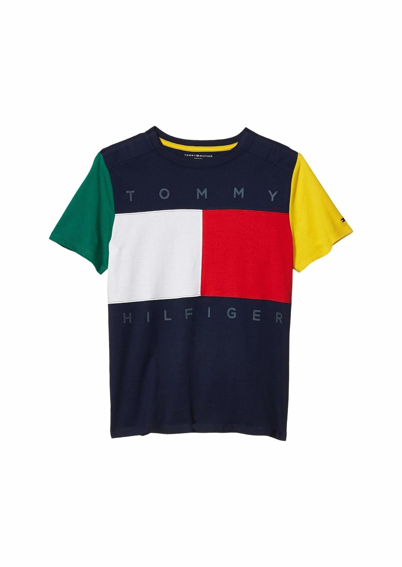 Tommy Hilfiger Sensory Flag T-Shirt (Little Kids/Big Kids)