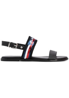 Tommy Hilfiger sequinned strap flat sandals