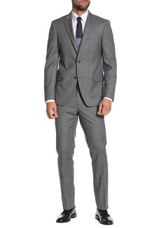 Tommy Hilfiger Sharkskin Slim Fit Wool  Suit