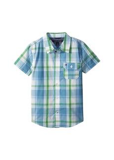 Tommy Hilfiger Short Sleeve Doug Yarn-Dye Shirt (Big Kids)