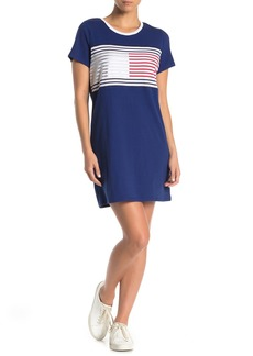Tommy Hilfiger Short Sleeve Logo Front T-Shirt Dress
